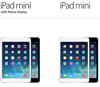 iPad mini vs ipad mini retina display