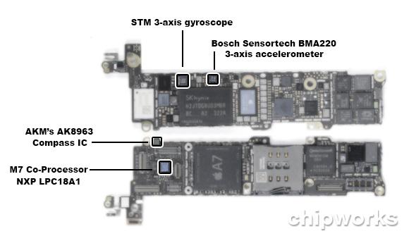 iPhone 5s (MEMS, Chipworks 001)
