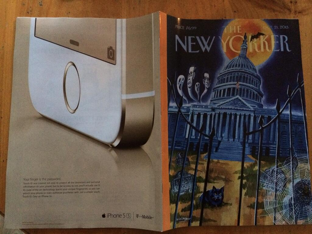 iPhone 5s ad in The New Yorker (spread)