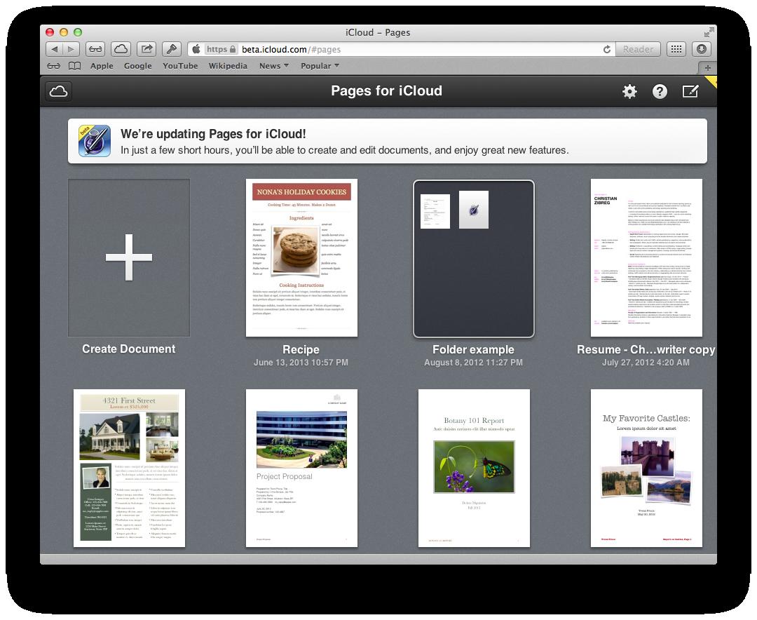 iWork for iCloud beta launching soon