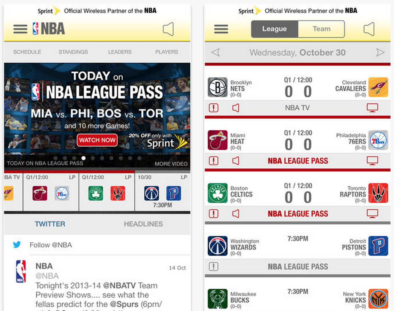 NBA updates Game Time app for new season, gives it iOS 7