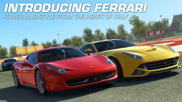 second real racing 3 ferrari update adds enzo ferraris cinematic replays and more. Black Bedroom Furniture Sets. Home Design Ideas