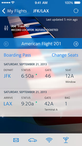 American Airlines 3.0.3 for iOS (iPhone screenshot 002)