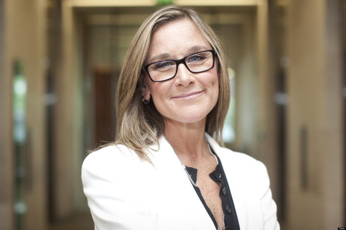 Burberry Group Plc CEO Angela Ahrendts At The London Stock Exchange