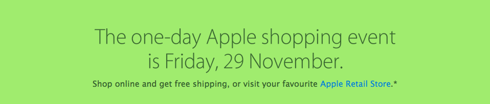 Apple Black Friday 2013 (teaser 001)