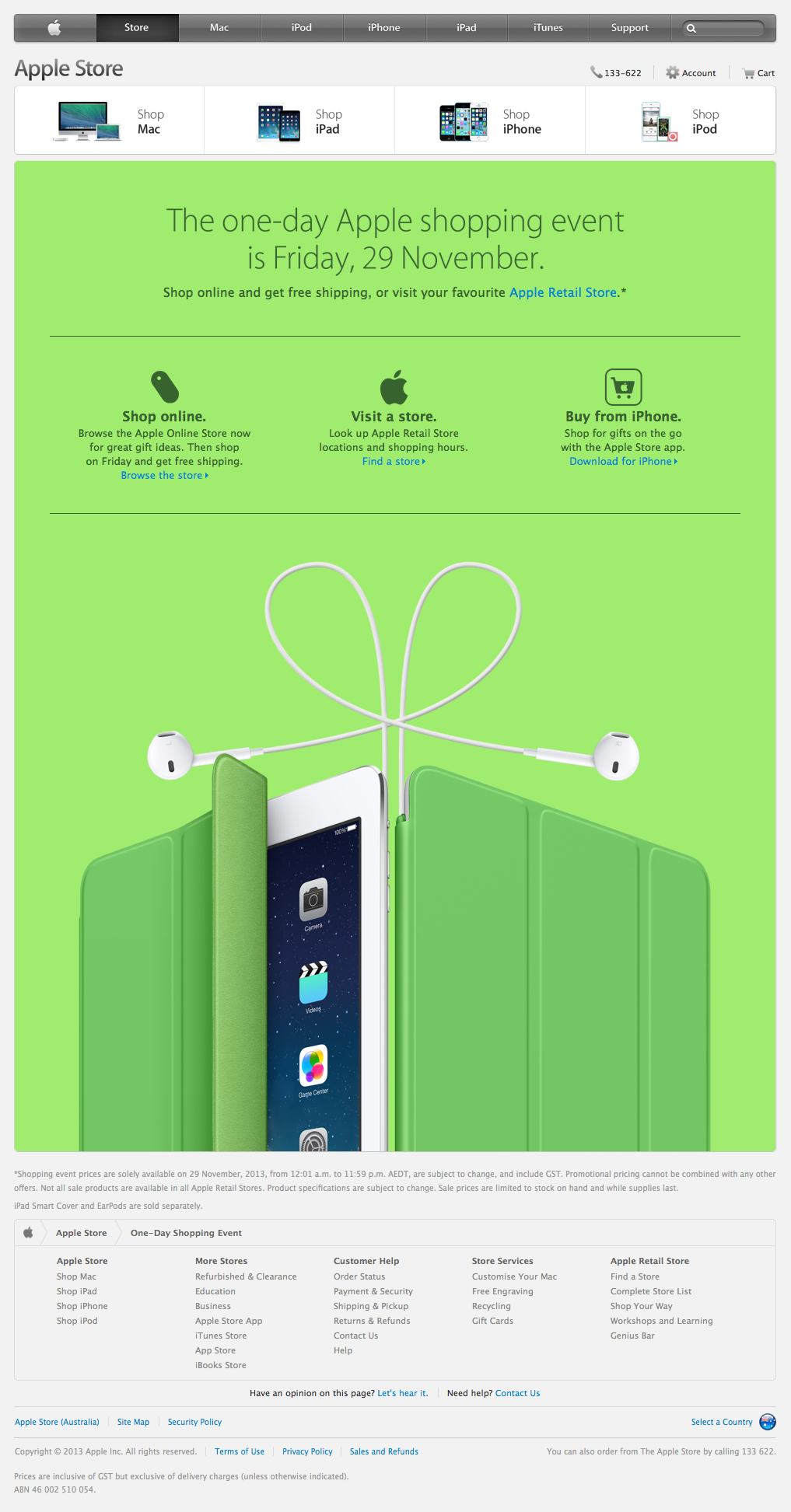 Apple Black Friday 2013 (web screenshot 001)