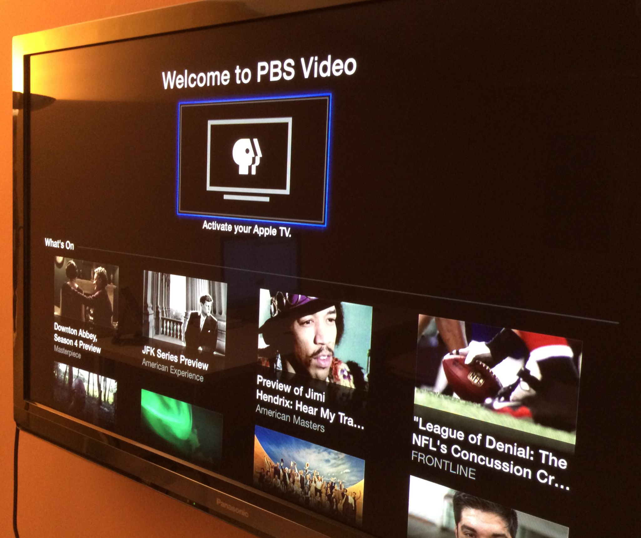 Apple TV (PBS activation)
