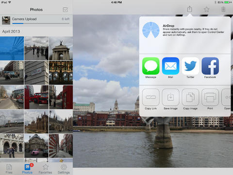 Dropbox 3.0 for iOS (iPad screenshot 001)