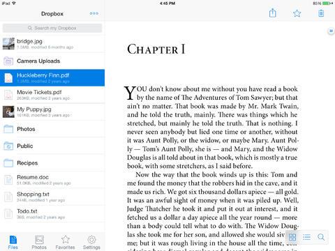 Dropbox 3.0 for iOS (iPad screenshot 002)
