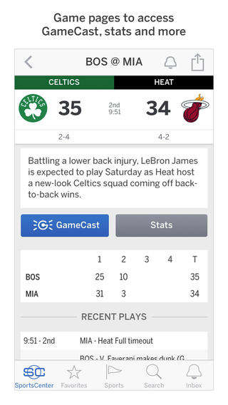 ESPN SportsCenter 4.0 for iOS (iPhone screenshot 003)