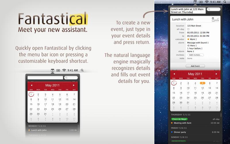 Fantastical 1.3.11 for Mac (screenshot 001)