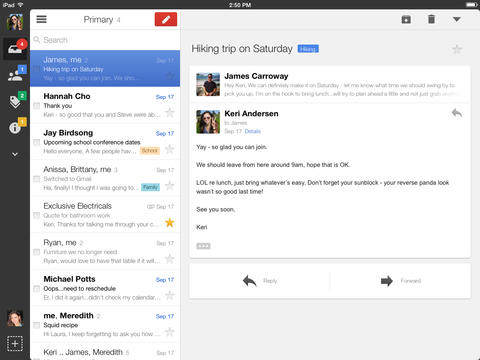 Gmail 2.7182 for iOS (iPad screenshot 001)