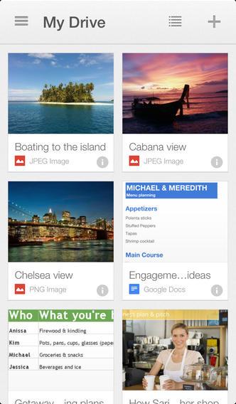 Google Drive 2.0.1 for iOS (iPhone screenshot 001)