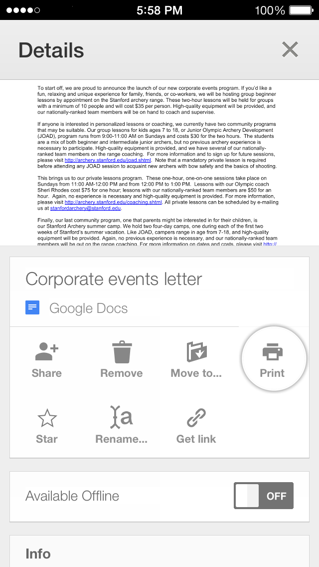 Google Drive 2.0.1 for iOS (iPhone screenshot 004)