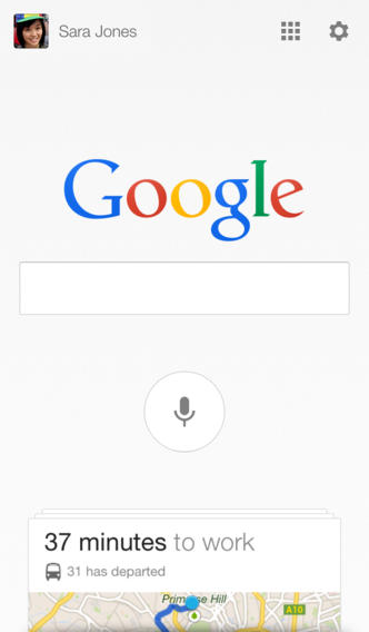 Google Search 3.1 for iOS (iPhone screenshot 001)