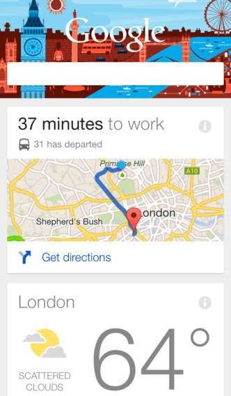 Google Search 3.1 for iOS (iPhone screenshot 002)