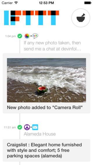 IFTT 1.2 for iOS (iPhone screenshot 003)