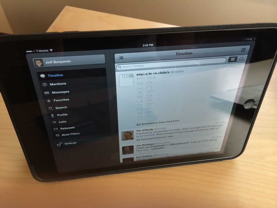 Jeff's iPad