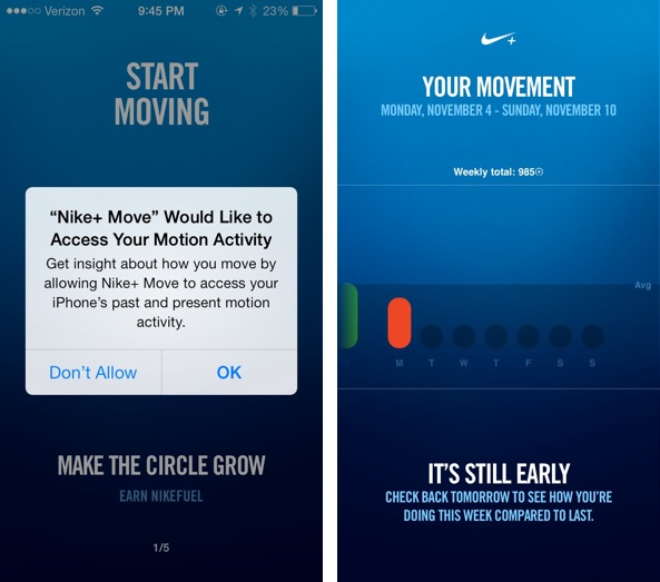 Nike+ Move released on the App Store
