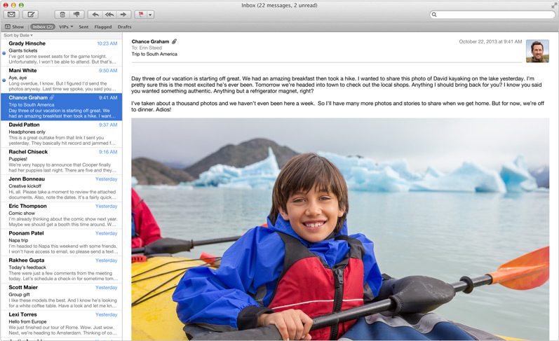 OS X Mavericks (Mail, overview 001)