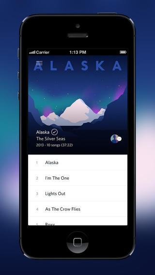 Rdio 2.5.3 para iOS (captura de pantalla de iPhone 001)