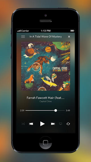 Rdio 2.5.3 para iOS (captura de pantalla de iPhone 002)