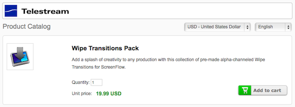 ScreenFlow Transitions Purchase