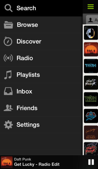 Spotify 0.9 for iOS (iPhone screenshot 002)