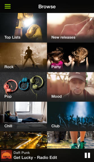 Spotify 0.9 for iOS (iPhone screenshot 003)