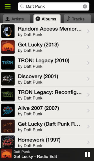 Spotify 0.9 for iOS (iPhone screenshot 004)