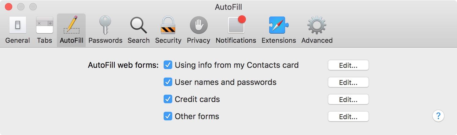 Syncing iCloud Keychain with safari on Mac