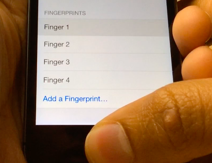 How to show the fingers assigned to Touch ID