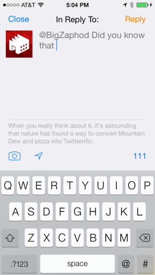 Twitterrific 5.5.3 for iOS (iPhone screenshot 002)