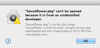 Error de desarrollador no identificado OS X