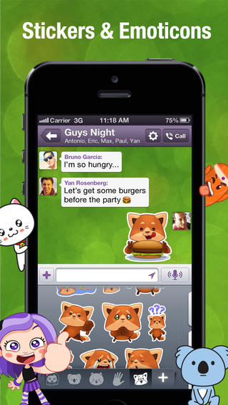 Viber 4.0 for iOS (iPhone screenshot 001)