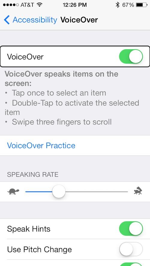 VoiceOver 2