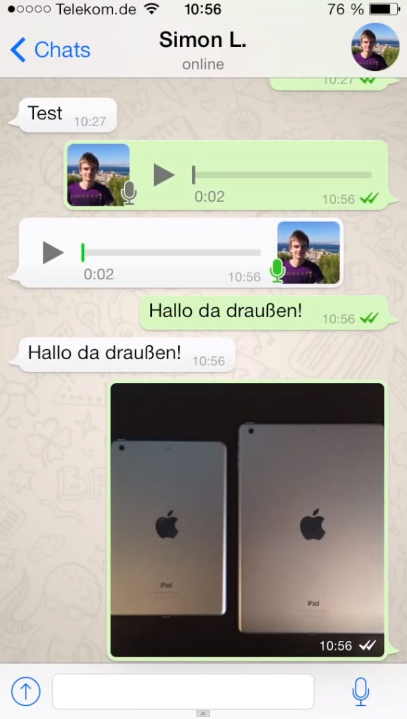 WhatsApp iOS 7 uodate (image 001)
