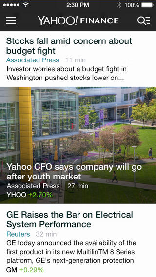 Yahoo Finance 2.0 for iOS (iPhone screenshot 004)