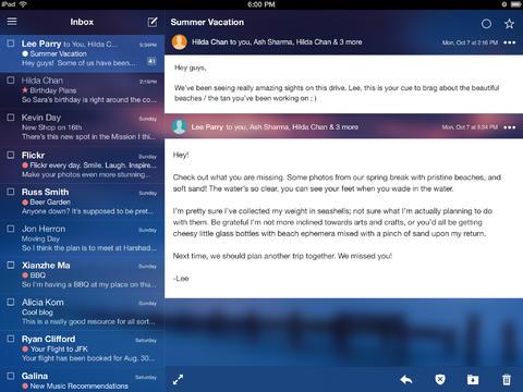 Yahoo Mail 2.0.3 for iOS (iPad screenshot 001)