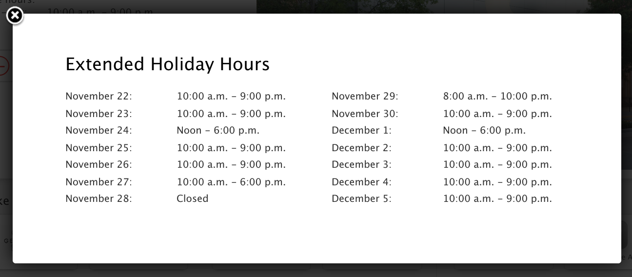 extend holiday hours