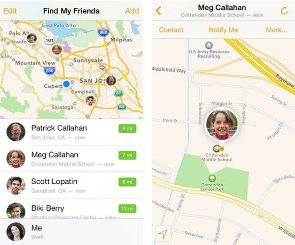 findfriends ios 7