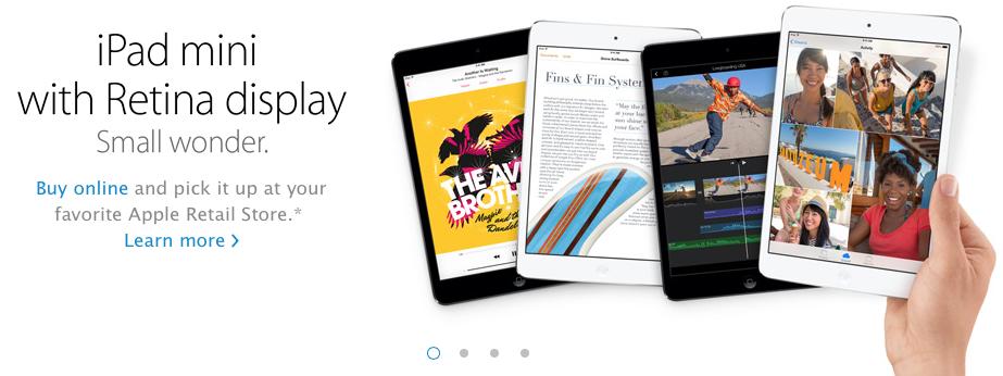 iPad mini 2 (Retina, Personal Pickup)