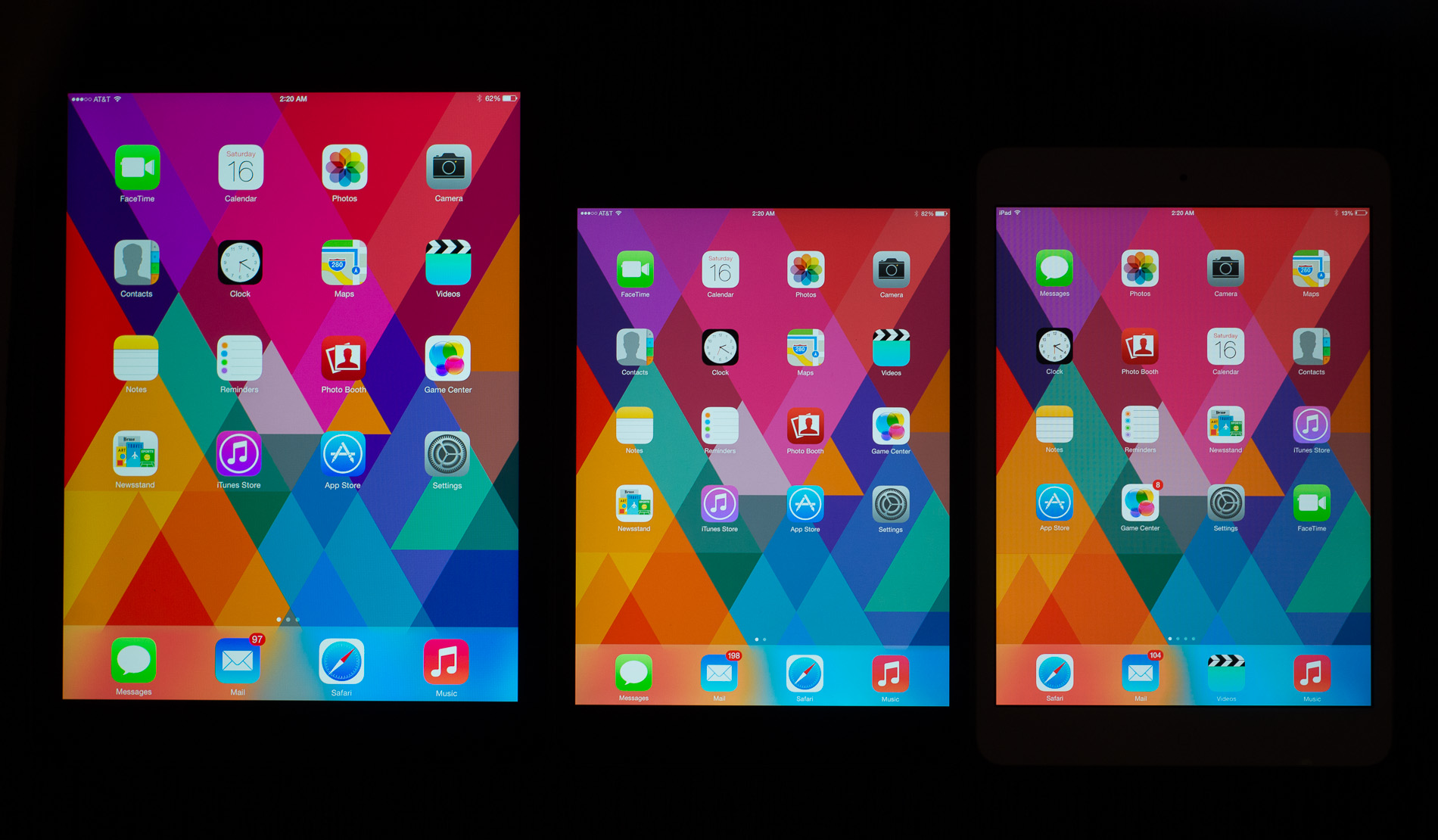 iPad mini 2 (Retina display color gamut, AnandTech 002)