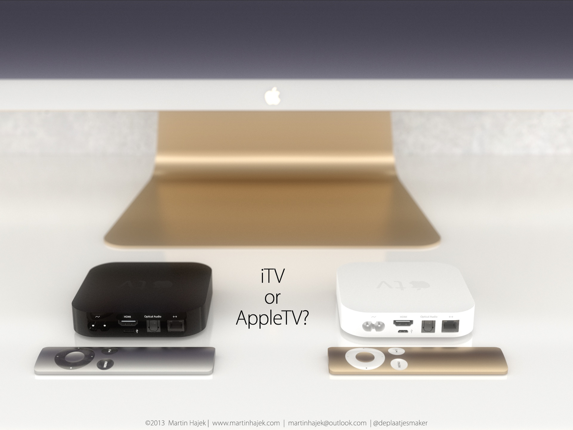 iTV concept (iTV or Apple TV, Martin Hajek 001)