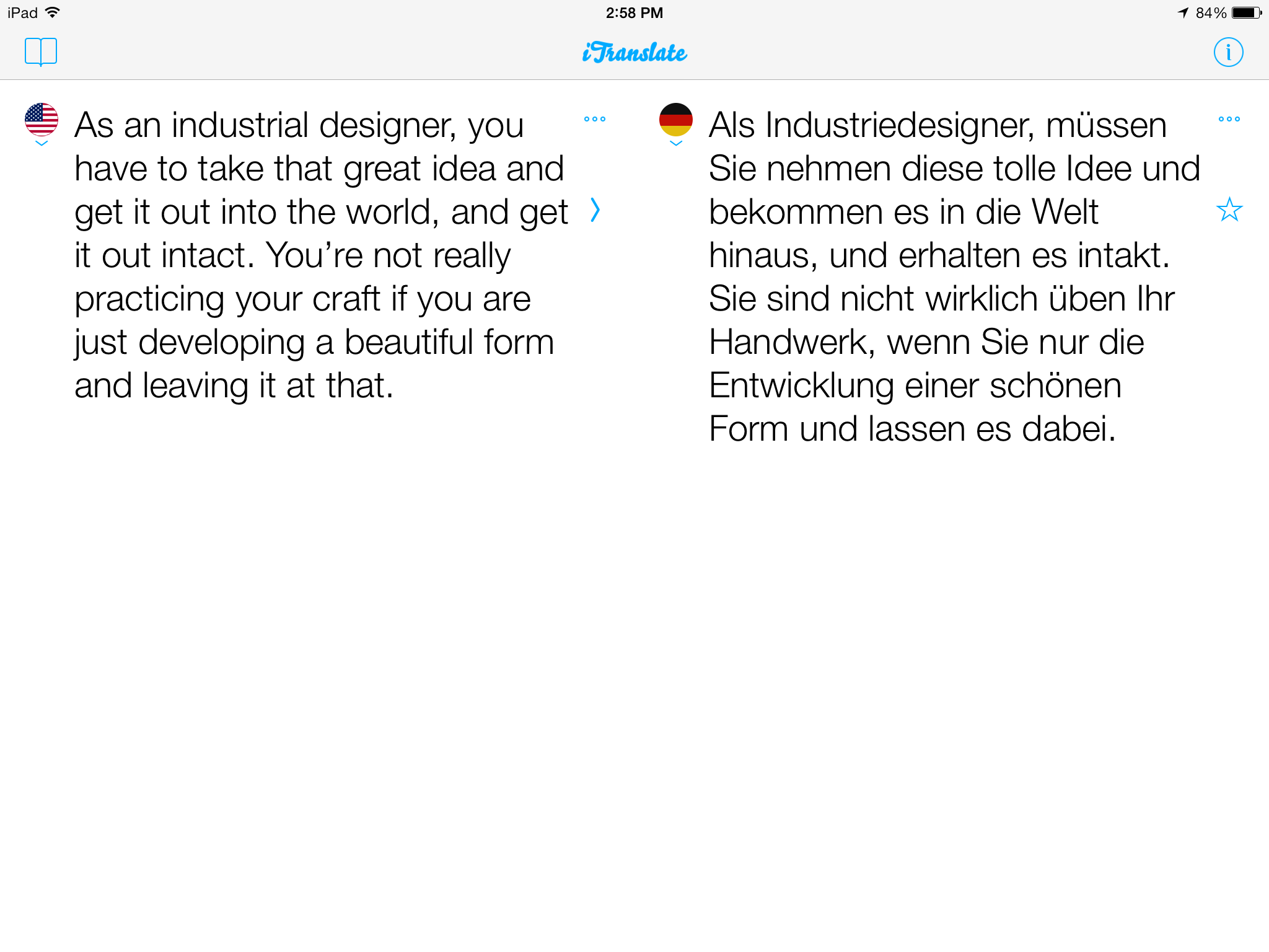 iTranslate 7.0.2 for iOS (iPad screenshot 005)