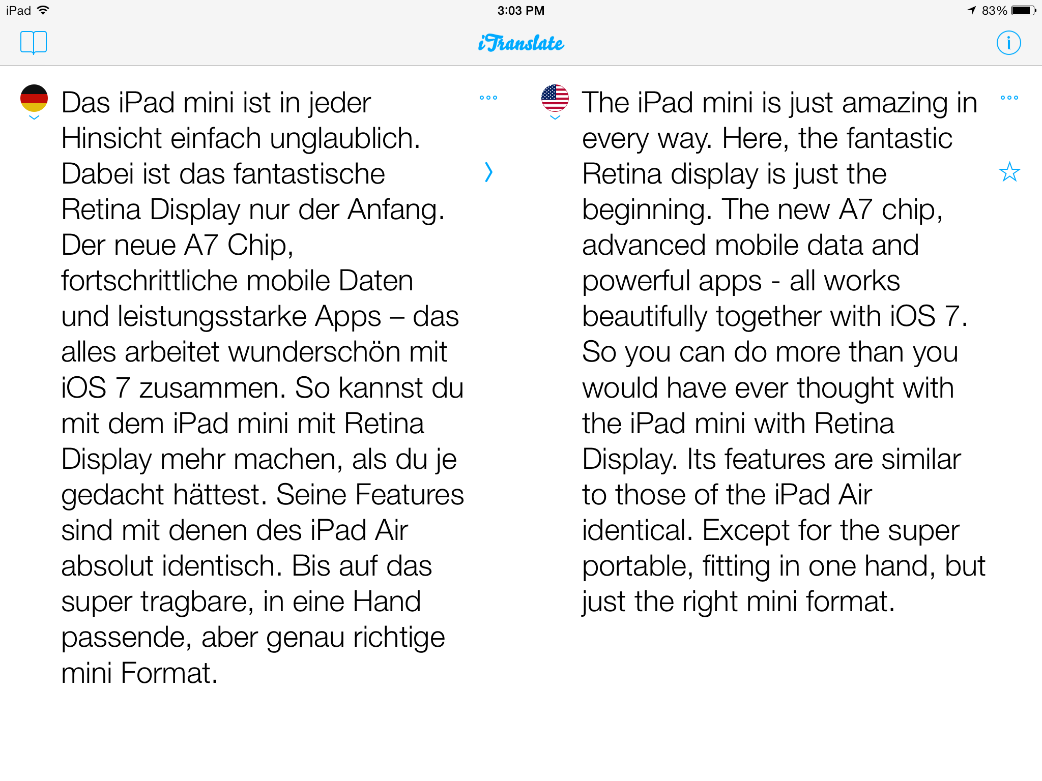 iTranslate 7.0.2 for iOS (iPad screenshot 007)