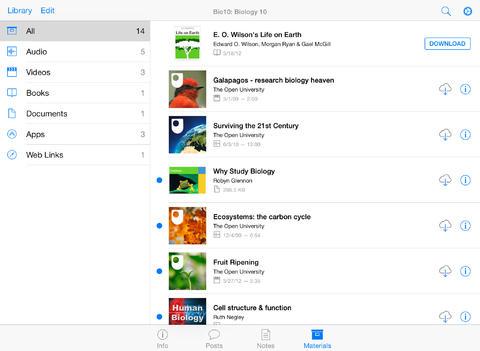 iTunes U 1.4 for iOS (iPad screenshot 004)