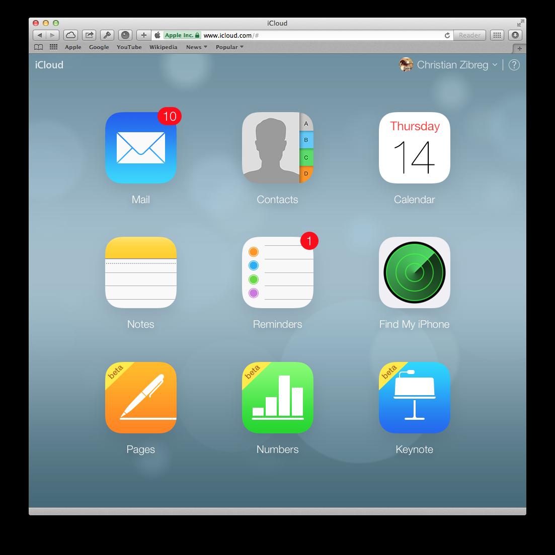 iWork for iCloud (Home screen 20131114)
