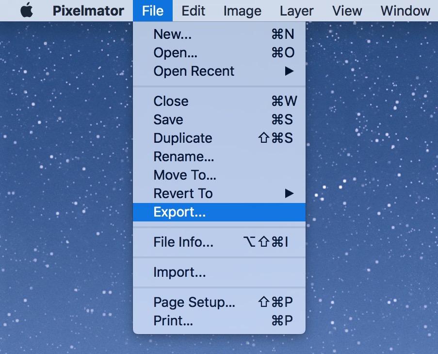 pixelmator export