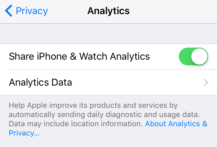 How to manage Diagnostic & Usage Data on iPhone and iPad